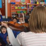 Abi played her violin to demonstrate how music can be used to create different moods.