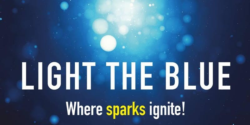 Light the blue. Where sparks ignite.